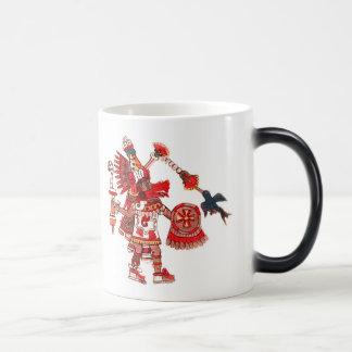 Dancing Aztec shaman warrior Magic Mug
