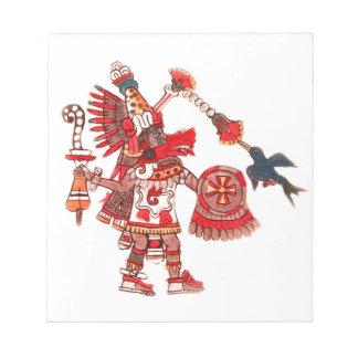 Dancing Aztec shaman warrior Notepad
