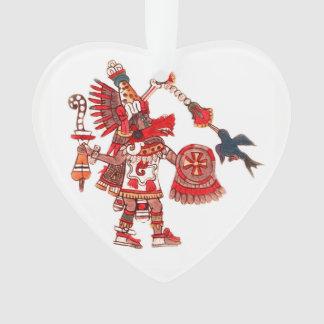 Dancing Aztec shaman warrior Ornament