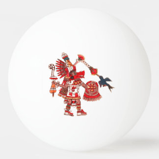 Dancing Aztec shaman warrior Ping Pong Ball