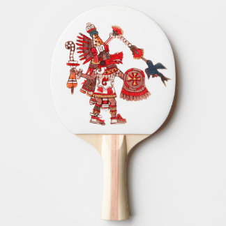 Dancing Aztec shaman warrior Ping Pong Paddle