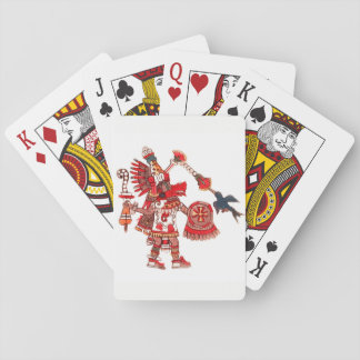 Dancing Aztec shaman warrior Playing Cards