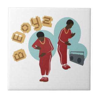 Dancing B Boyz Small Square Tile