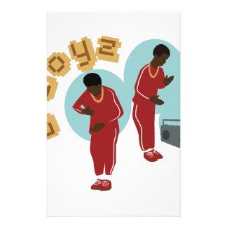 Dancing B Boyz Stationery