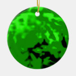 Dancing Ball Gold Green Trans MUSEUM Zazzle Gifts Christmas Tree Ornament