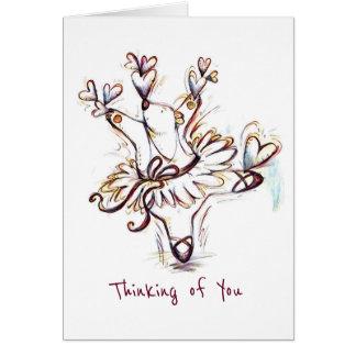 Dancing Ballerina Bear Greetings! Card