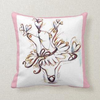 Dancing Ballerina Bear Throw Pillow
