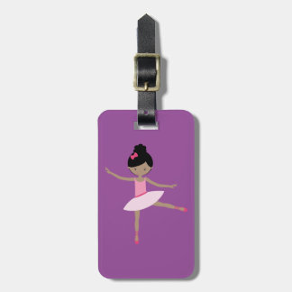DANCING BALLERINA LUGGAGE TAG