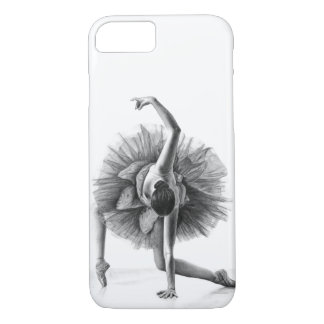 Dancing ballerina pencil drawing iPhone 7 case