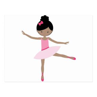 DANCING BALLERINA POSTCARD