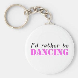 Dancing Basic Round Button Key Ring