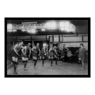 Dancing Basketball Players at the Palace Club 1926 Poster
