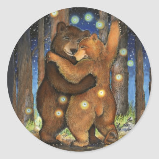 Dancing Bear Classic Round Sticker