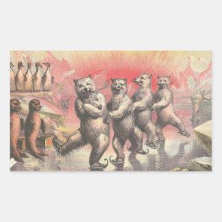 Dancing Bears Rectangular Sticker