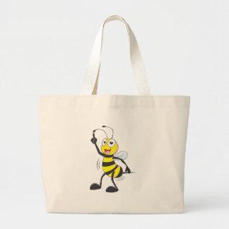 Dancing Bee Canvas Bag