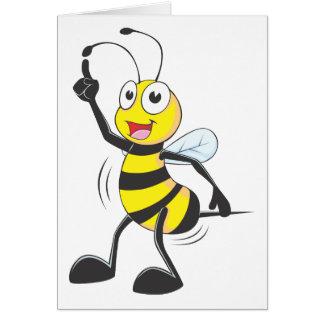 Dancing Bee Greeting Card
