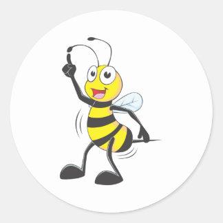 Dancing Bee Round Sticker
