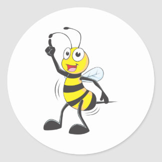 Dancing Bee Classic Round Sticker
