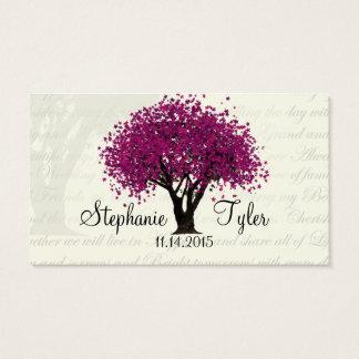 Dancing Blooms Plum Purple Tree Seating Cards