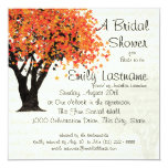 Dancing Blooms Tree Bridal Shower 13 Cm X 13 Cm Square Invitation Card