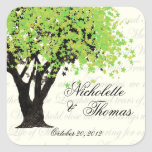 Dancing Blooms Tree Square Sticker