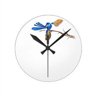 Dancing Blue Fairy Wren Australian Bird Wallclock