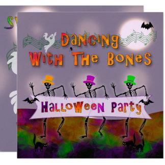 Dancing Bones Halloween Party Invitation