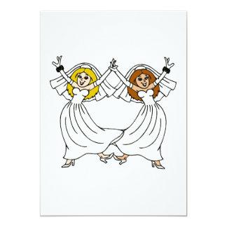 "Dancing Brides 5"" X 7"" Invitation Card"