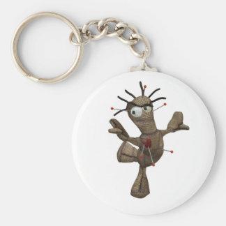 Dancing Brown Voodoo Doll Key Ring Basic Round Button Key Ring