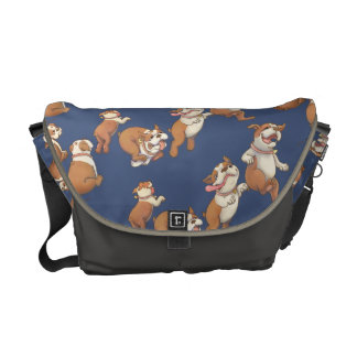 Dancing Bulldog Messenger Bags