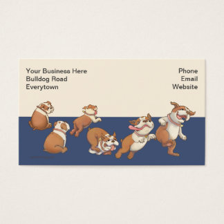Dancing Bulldogs Business Card