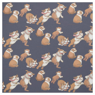 Dancing Bulldogs Fabric