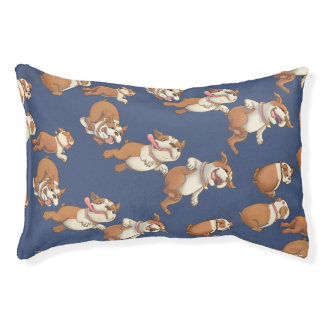 Dancing Bulldogs Pet Bed