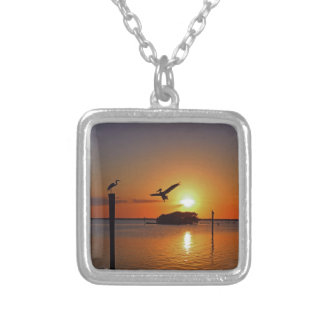Dancing by Firelight Silver Plated Necklace