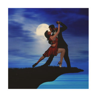DANCING BY THE MOONLIGHT WOOD PRINT