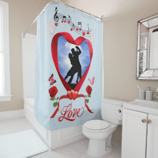 DANCING BY THE SILVERY MOON SHOWER CURTAIN