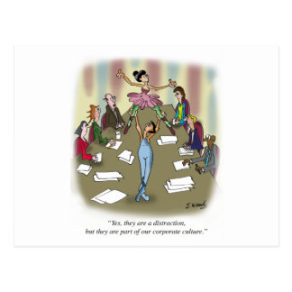 Dancing Cartoon 9386 Postcard