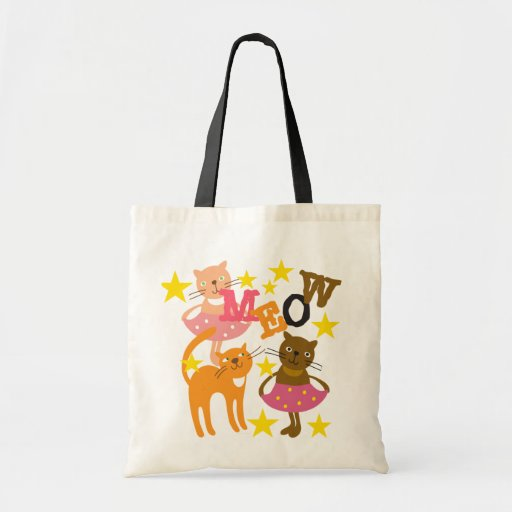 Dancing Cats Canvas Bags