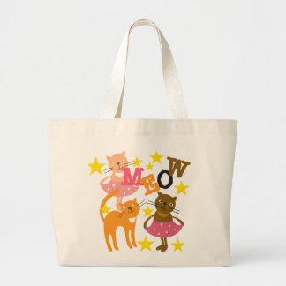 Dancing Cats Canvas Bag