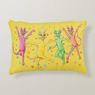 Dancing Cats Decorative Cushion
