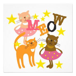 Dancing Cats Custom Invites