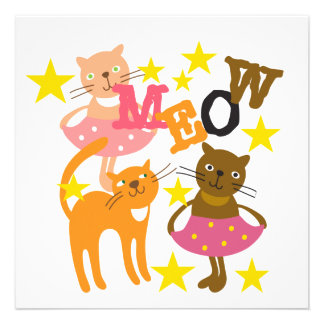Dancing Cats Invites
