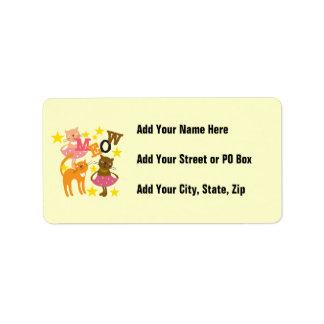 Dancing Cats Address Label