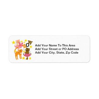 Dancing Cats Return Address Label