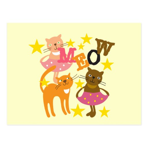 Dancing Cats Post Card