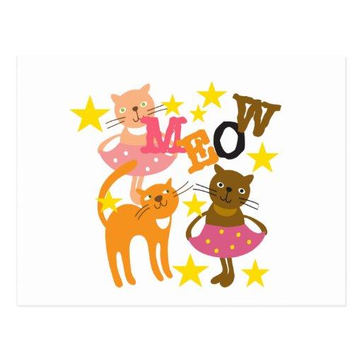 Dancing Cats Postcards