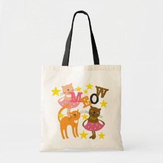 Dancing Cats Canvas Bags