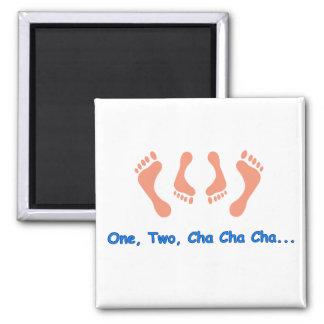 Dancing Cha Cha Feet Refrigerator Magnet