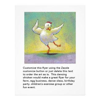 Dancing chicken fun art cute colourful happy 21.5 cm x 28 cm flyer