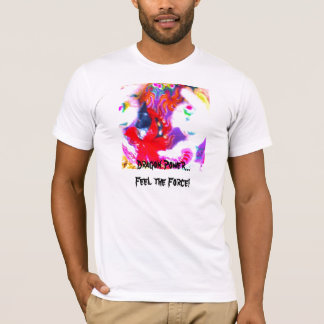 Dancing Chinese Dragon Face Abstract T-Shirt